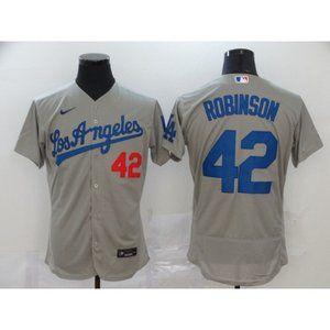 LA Dodgers Jackie Robinson Gray Jersey